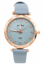 B-F8.2 W203-007 Quartz Watch with Pu Strap 30mm Blue