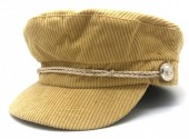 T-K7.3 HAT402-001 Sailor Cap Rib Fabric Mustard