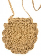 BAG003-012 Straw Crossbody Bag Brown