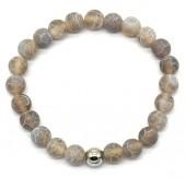 B-A6.4  B2121-001 Cracked Agate Bracelet Grey