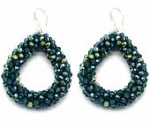 A-B6.3 E007-001 Facet Glass Beads 4.5x3.5cm Green-Multi