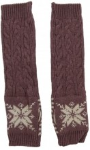 L-C2.1 Hand and Arm Warmers with Crystals Purple