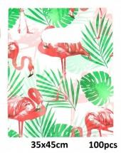 T-P3.2 Plastic Bags Flamingo 100pcs 35x45cm