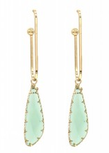 A-D5.1 E1631-022A Earrings with Stone 6.5x1cm Gold