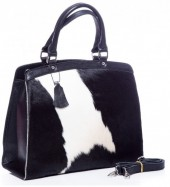 Q-G5.1  BAG-795 Luxury Leather Bag 36x30x12cm Black with mixed color Cowhide