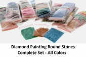 Y-F1.3 Diamond Painting Stones - Complete Set - All Colors - Round