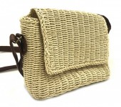 BAG003-004 Straw Crossbody Bag  Beige