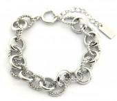 D-C17.2 B2019-017 Metal Chain Bracelet Silver