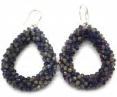 A-B20.4 E007-001 Facet Glass Beads 4.5x3.5cm AB Grey