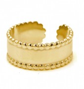 E-A17.2 R110198G S. Steel Ring Adjustable Gold