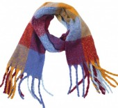 Y-D1.3 SCARF405-060G  Soft Checkered Scarf Multi