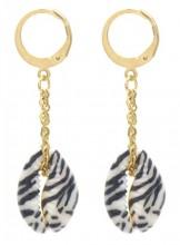 F-B4.1 E2121-061G S. Steel Earrings 5x1cm Gold