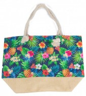 Y-C5.4  BAG528-020 Beach Bag Jungle Pineapples 36x52cm