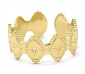 C-E5.5 R2033-007G S. Steel Ring Adjustable Gold