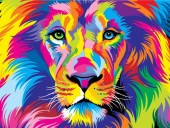 Y-B1.1  MS7903 Paint By Number Set Lion 50x40cm