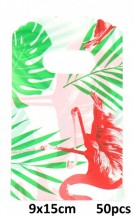 T-J2.1 Plastic Bags Flamingo 50pcs 9x15cm
