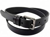 C-F10.1 22171 Leather Belt Black 2.5x115cm