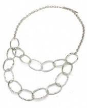 B-F21.5 N001-007 Metal Chain Necklace Silver