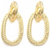 E-A3.2 E2019-010G Metal Earrings 30mm Gold