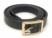 S-K6.3 BELT418-001A PU Croco Belt Black M