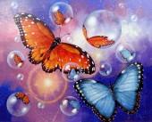 Q-L7.2 XL4012 Diamond Painting Set Buttefly 40x30cm