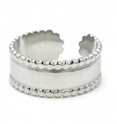 G-C19.2 R110198S S. Steel Ring Adjustable Silver