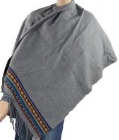 T-N8.1 Soft Poncho with Aztek Print Grey