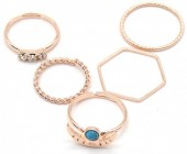 B-F19.1 R426-002R Ring Set 5pcs Rose Gold #19