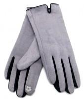 S-J5.1 GLOVE501-005C Soft Gloves Two-Tone Black-Grey