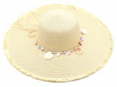 Q-J3.1 HAT315-001 Hat with Shells Light Brown