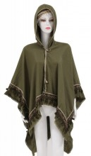 Z-E3.3 SCARF409-038 Exclusive Hooded XL Scarf Green