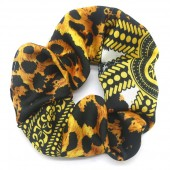 S-B7.5  H305-052B Scrunchie Animal Print Brown