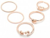 C-D18.1 R426-004R Ring Set 5pcs Rose Gold #18