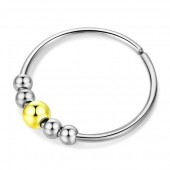 D-A18.4 R007-007 S. Steel Ring Balls Adjustable Silver-Gold