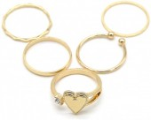 A-B22.3 R426-001G Ring Set 5pcs Gold #16