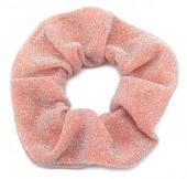 S-D3.1 H305-045K Glitter Scrunchie Pink