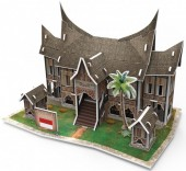 E-F25.1 W3145H 3D Puzzle Traditional Residence Indonesia - 30pcs
