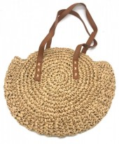 BAG003-001 Straw Bag 30cm Brown