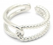 E-B6.2 R2019-002S Metal Ring Adjustable Silver