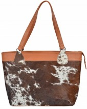 T-E2.2 BAG1151 Leather with Cowhide Bag Mixed Colors 45x30x9cm