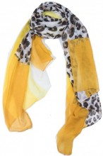 X-O7.2 SCARF507-014A Animal Print 180x90cm Yellow