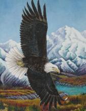 Q-P6.1  HX206 Diamond Painting Set Eagle 40x30cm