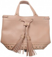 Y-C3.4  BAG535-003B PU Bag Tassels and Studs 36x25x15cm Pink