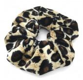 S-I6.4 H305-021 Velvet Scrunchie Animal Print