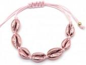 D-D17.2  B2001-021C Bracelet with Chrome Shells Pink