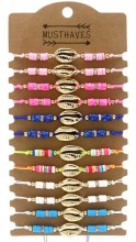 X-O3.3 B2135-001 Bracelet Set with Shell - 12pcs