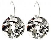 C-A22.1 E2019-041S Earrings 4cm Coin 2.5cm Creoles Silver