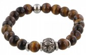 A-C20.2 S. Steel Bracelet with Semi Precious Stones Brown