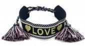 C-A20.1 B2030-007 Woven Bracelet LOVE Black