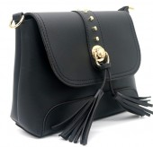 Y-F2.3 BAG546-025A PU Bag Tassels Black